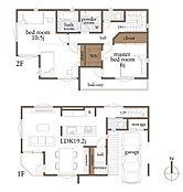 3号地 参考プラン 建物面積:101.02平米(車庫部分11.50平米含)