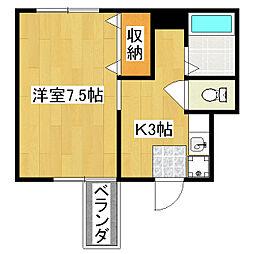 寿苑ビル[5A号室]の間取り