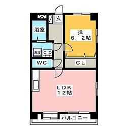 グランシャリオ箱崎II[1階]の間取り