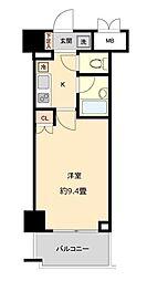 仙台市地下鉄東西線 国際センター駅 徒歩10分の賃貸マンション 7階1Kの間取り