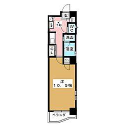 プレステージ西大須[4階]の間取り