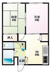 神奈川県横須賀市長沢1丁目の賃貸アパートの間取り