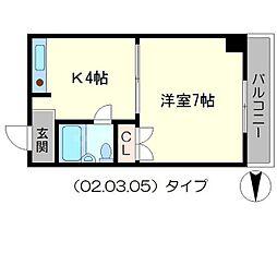 ラビットハイツ[3階]の間取り