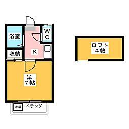 フラット岩崎[2階]の間取り