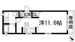 兵庫県宝塚市南口1丁目の賃貸アパートの間取り