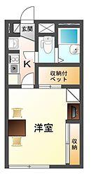 滋賀県大津市坂本6丁目の賃貸アパートの間取り
