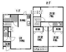 [テラスハウス] 茨城県那珂市杉 の賃貸【/】の間取り