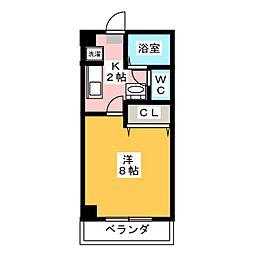 ガーデンハウス安田通[4階]の間取り