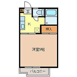 ロワール箱清水[2階]の間取り