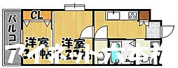 福岡市地下鉄七隈線 渡辺通駅 徒歩3分の賃貸マンション 9階2Kの間取り
