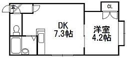 クリエイト東札幌[105号室]の間取り