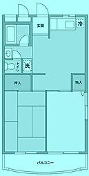ヴィラージュ平瀬3号棟[3階]の間取り