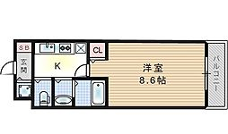 ボンジュール西九条[7階]の間取り