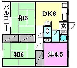 松本マンション[403 号室号室]の間取り