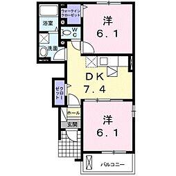 ミニヨン フィオーレ2[0103号室]の間取り