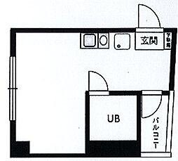 クリエール桜木町[203号室]の間取り