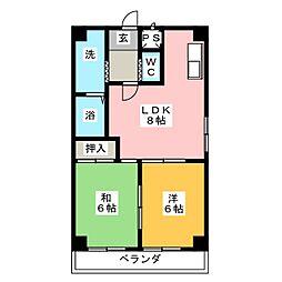 サン花塚[3階]の間取り