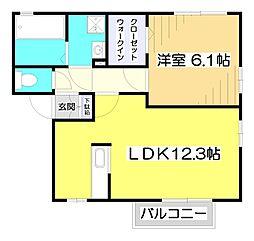 埼玉県ふじみ野市駒西2丁目の賃貸アパートの間取り
