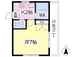 愛媛県松山市本町4丁目の賃貸マンションの間取り