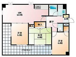 ノーヴァフレア2[4階]の間取り