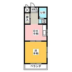 コーポアクトメタル[2階]の間取り
