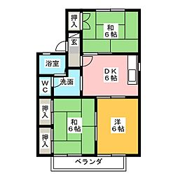 ファミールB[2階]の間取り