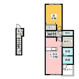 インプレス品川[2階]の間取り