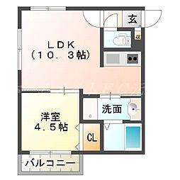 仮)厚別中央1−3MS[2階]の間取り