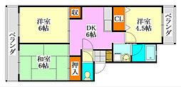 ドミール薬円台[3階]の間取り