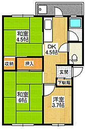 北野田巽マンションB棟[5階]の間取り