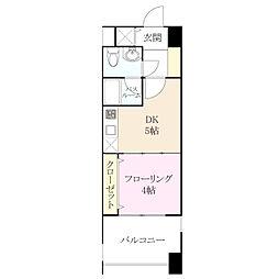 レジデンス箱崎[2階]の間取り