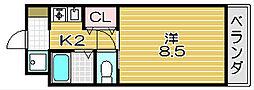 CITY COM高槻[4階]の間取り