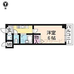 なかよしマンション四条大宮[406号室]の間取り