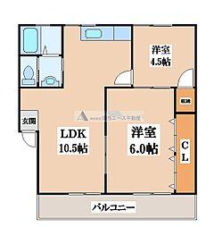 第一寺尾マンション[1階]の間取り