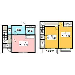 ハウスサイメ[2階]の間取り