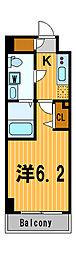 ライジングプレイス川崎二番館[7階]の間取り