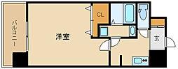 阪神本線 尼崎駅 徒歩3分の賃貸マンション 9階1Kの間取り