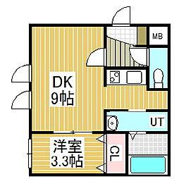 ANDAZ苫小牧駅前[3階]の間取り