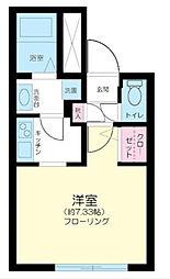 東京都中野区白鷺2丁目の賃貸マンションの間取り