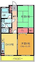 綾瀬リージェントマンション[206号室]の間取り