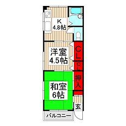 メゾンユイ[1階]の間取り