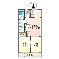 パルステージ[2階]の間取り