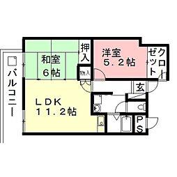PLUS O2ビル[8階]の間取り