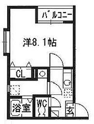 リブレア箱崎駅前B[1階]の間取り