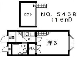 プラザイーグル[2階]の間取り