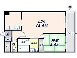 レナジア瓢箪山[3階]の間取り