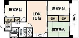 吉見園コーポ[5階]の間取り