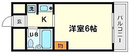 ミフネセントラルベア東三国2号館[5階]の間取り