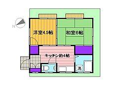 [一戸建] 東京都府中市西府町1丁目 の賃貸【/】の間取り