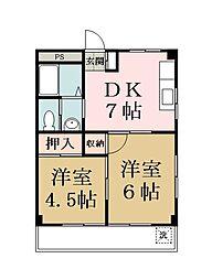 マンション新明[3階]の間取り